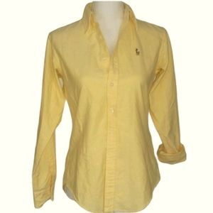 Ralph Lauren | Yellow Button Down Top